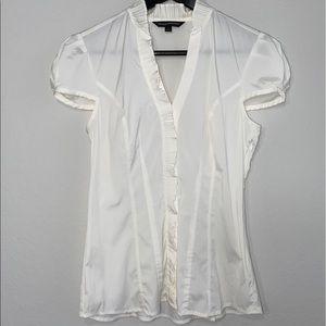 EXPRESS White collard blouse small